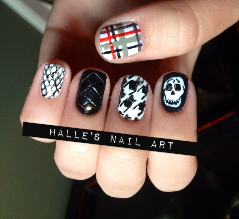 Punk'd nail art by Halle Butler