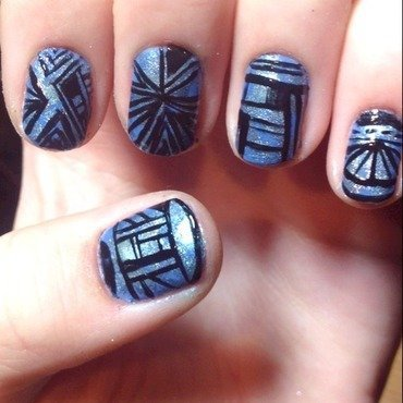 Dimensional nail art by Halle Butler