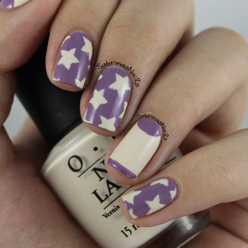Stars and Half Moons nail art by Sabrina