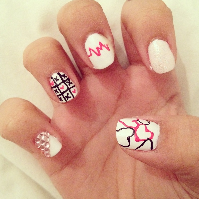 Love hate relationship (part 2) nail art by Zay