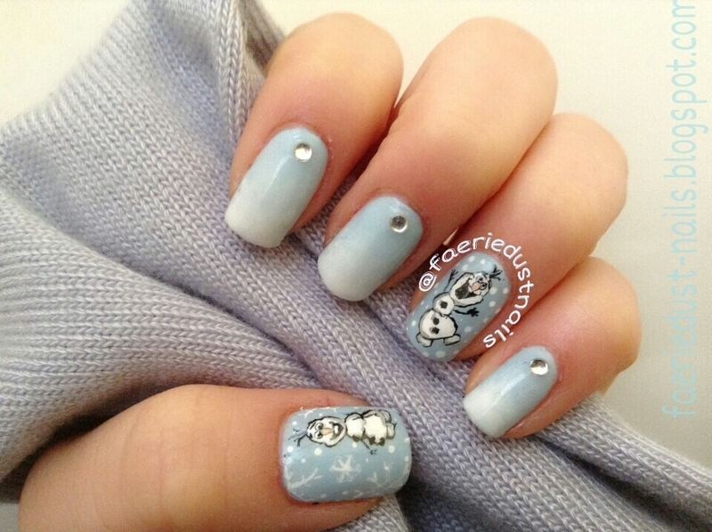 Olaf Nail Art (Frozen) nail art by Shirley X.