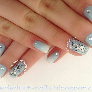 Olaf Inspired Nail Art (Frozen) nail art by Shirley X.