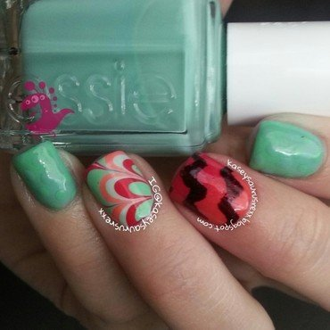 Mix & Match Spring Nail Art nail art by Kasey