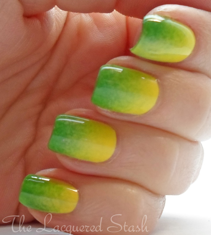 Spring Gradient nail art by Emma N.