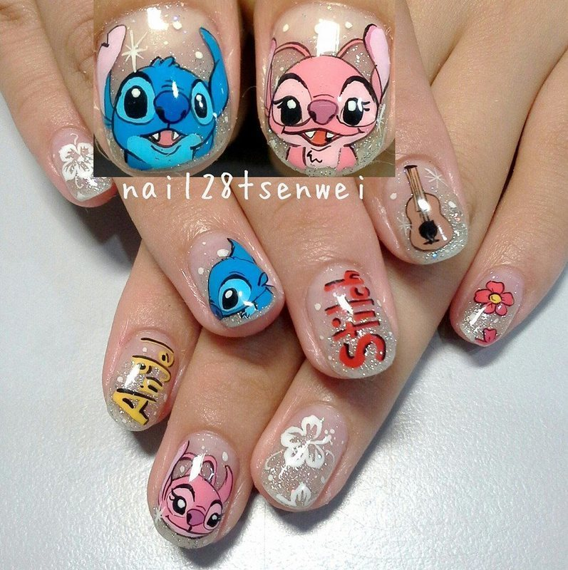 stitch nail art by Weiwei