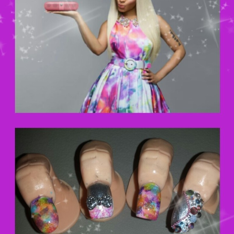 pink on them chicks nail art by Nika ashfaq