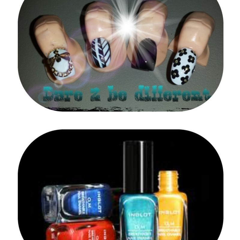 daisy nail art by Nika ashfaq