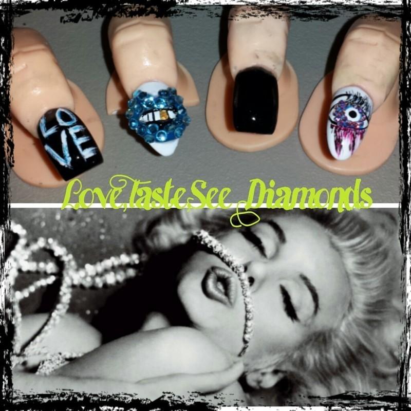 I taste and see diamond nail art by Nika ashfaq
