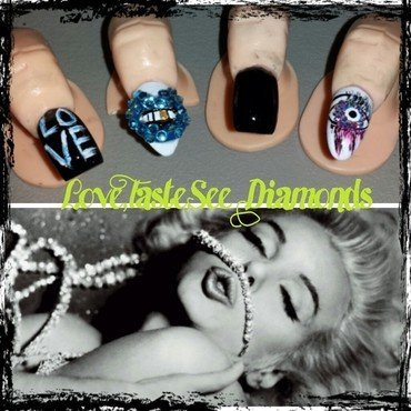 I taste and see diamond nail art by Nika ashfaq