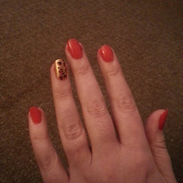 leopard print nail art by Ciara Donoghue