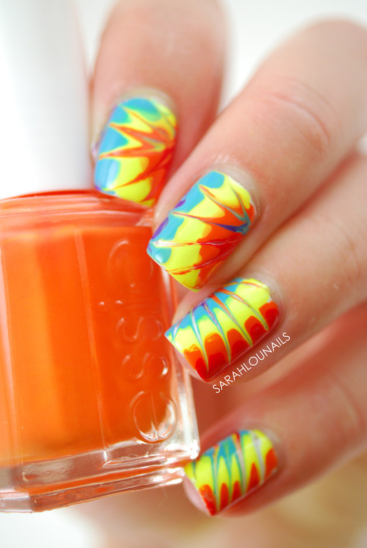 Tie-Dye Nails! nail art by Sarah S