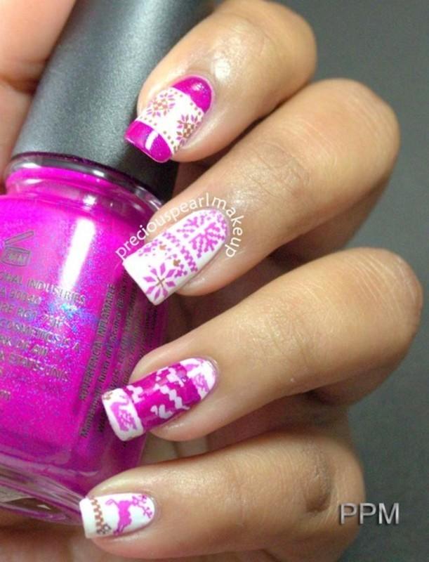 Sweater Nails nail art by Pearl P.