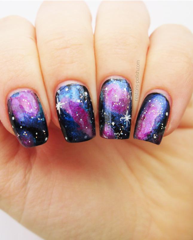 Galaxy Nails nail art by Restons polish - Nailpolis: Museum of Nail Art