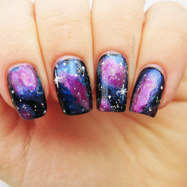 Galaxy nail art thumb370f