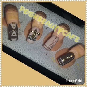 au chocolate nail art by Nika ashfaq