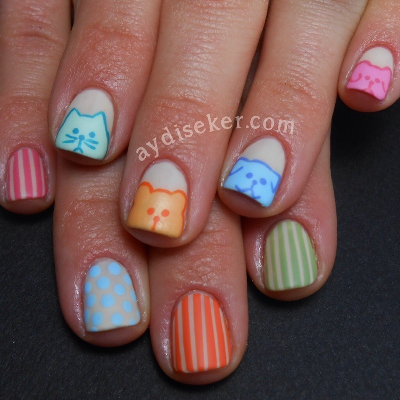 Nude & Pastel Colours nail art by Aydi Seker