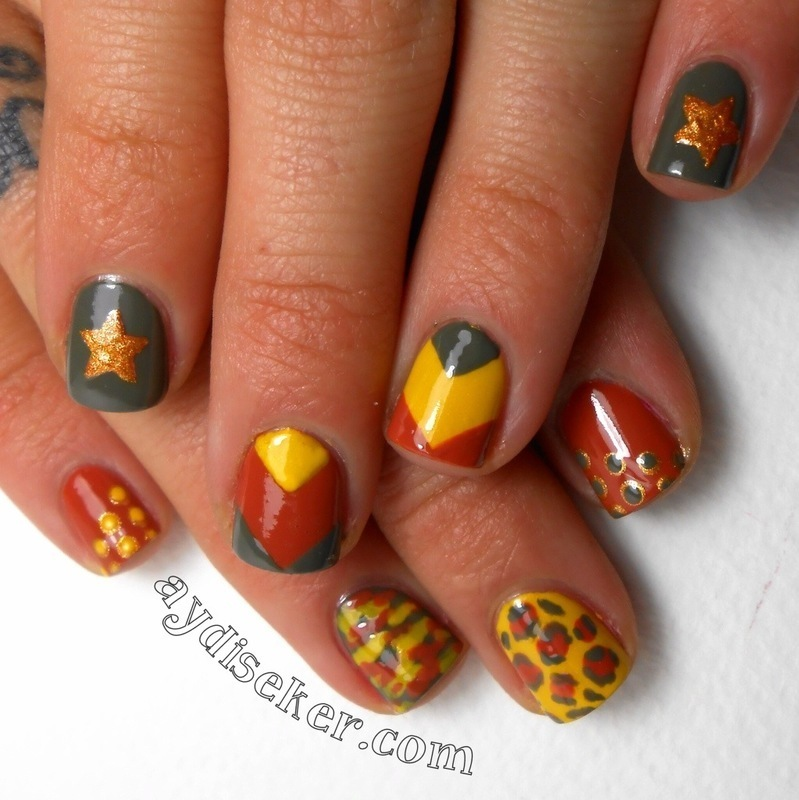 Mix n Match  nail art by Aydi Seker