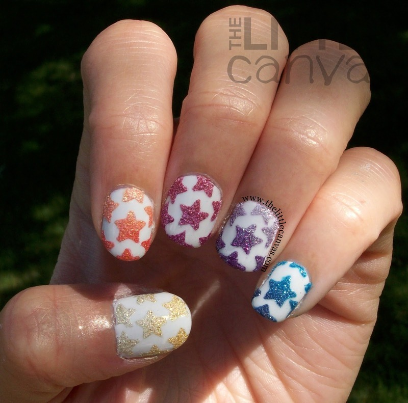 Zoya Pixie Dust Stars nail art by The Little Canvas - Nailpolis ...