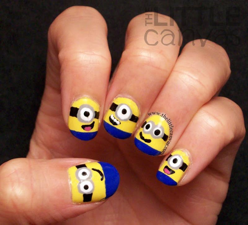 Minion Nail Art nail art by The Little Canvas