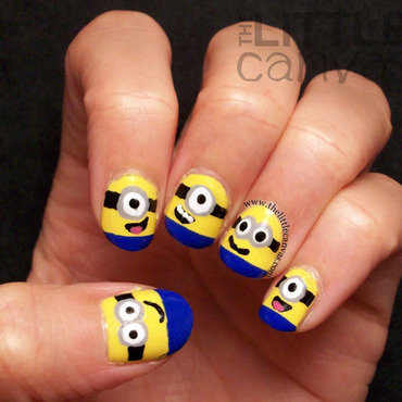 Minion Nail Art nail art by The Little Canvas