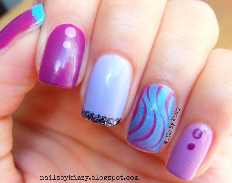 The month I was born (February) nail art by Kizzy