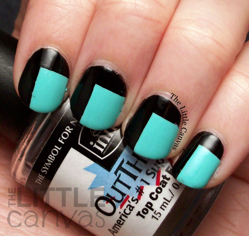 Color Block nail art by The Little Canvas