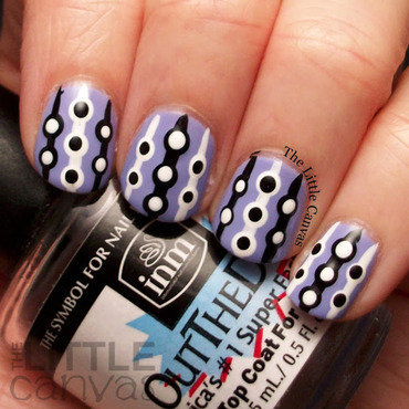 Retro Dot Manicure nail art by The Little Canvas