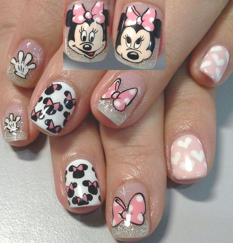 minnie minnie nail art by Weiwei