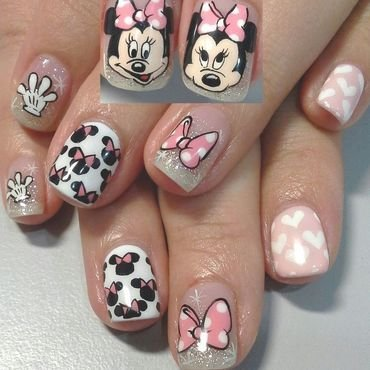 minnie minnie nail art by Weiwei