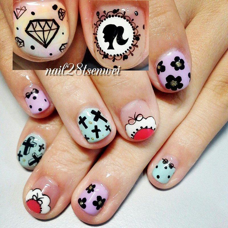 mix nail art by Weiwei