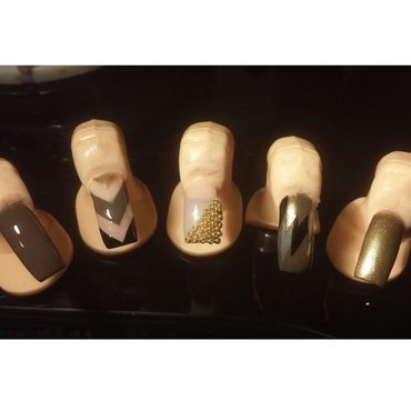 brownies nail art by Nika ashfaq
