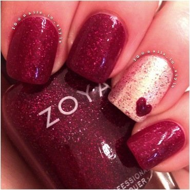 Red Heart nail art by Nails_In_Style