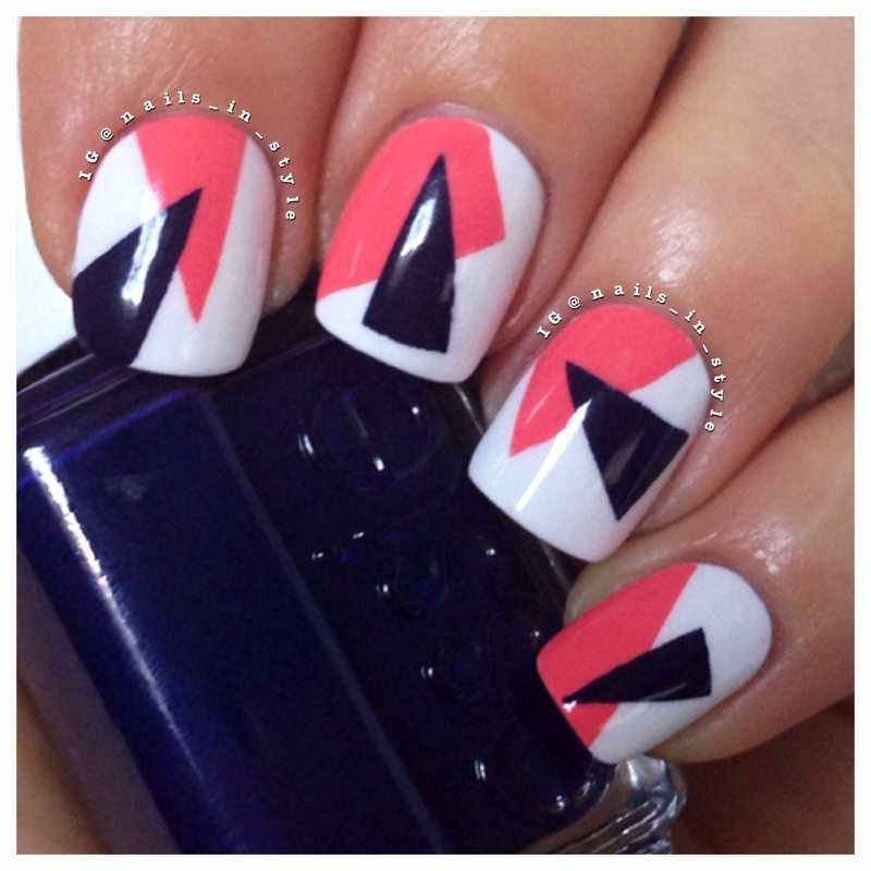 Triangle Art nail art by Nails_In_Style