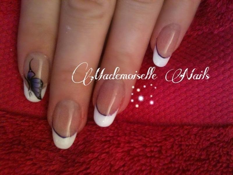 Butterfly nail art by Mathilde