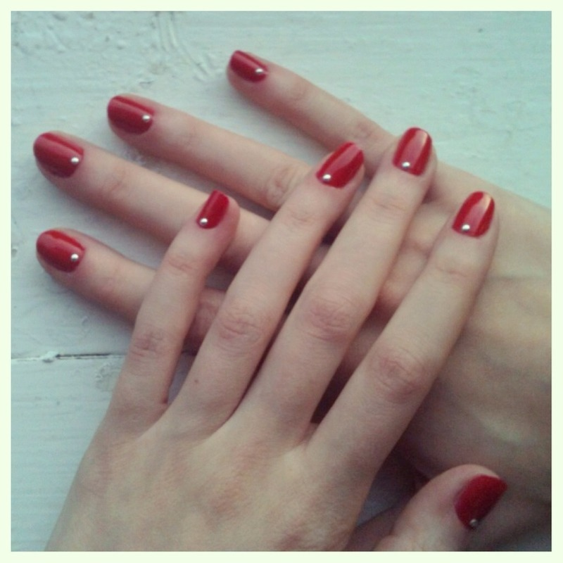 Simply Red nail art by Hayley