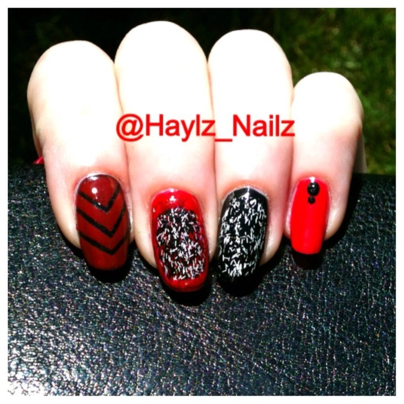Mix n' Match nail art by Hayley
