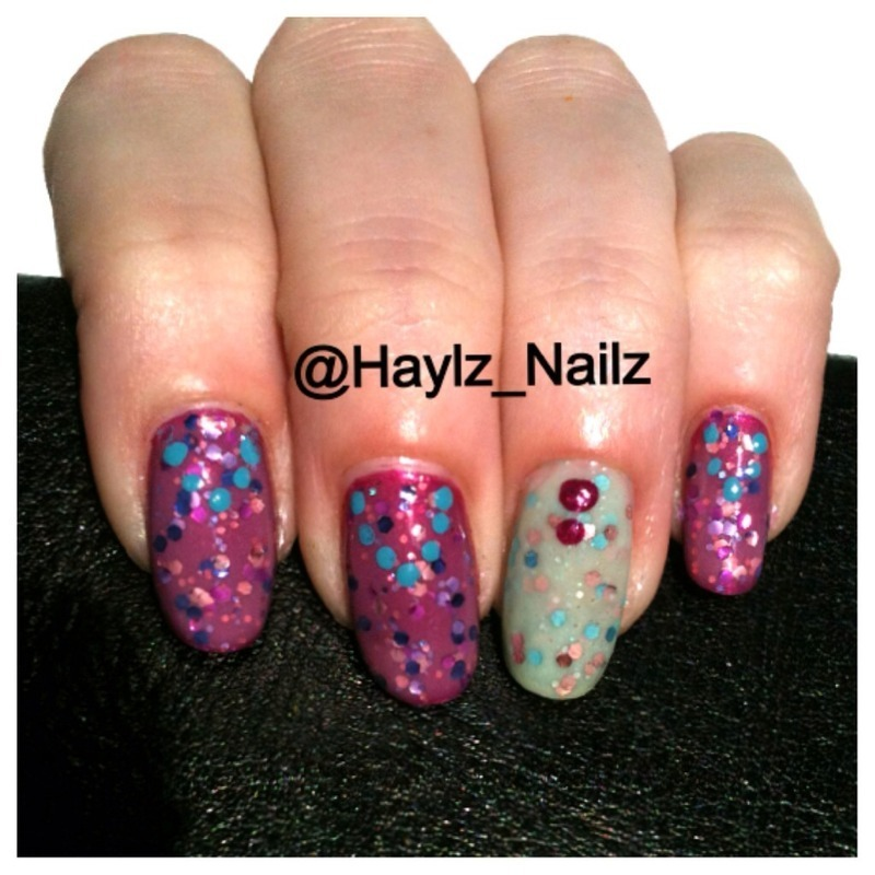 FunFettiFingers nail art by Hayley