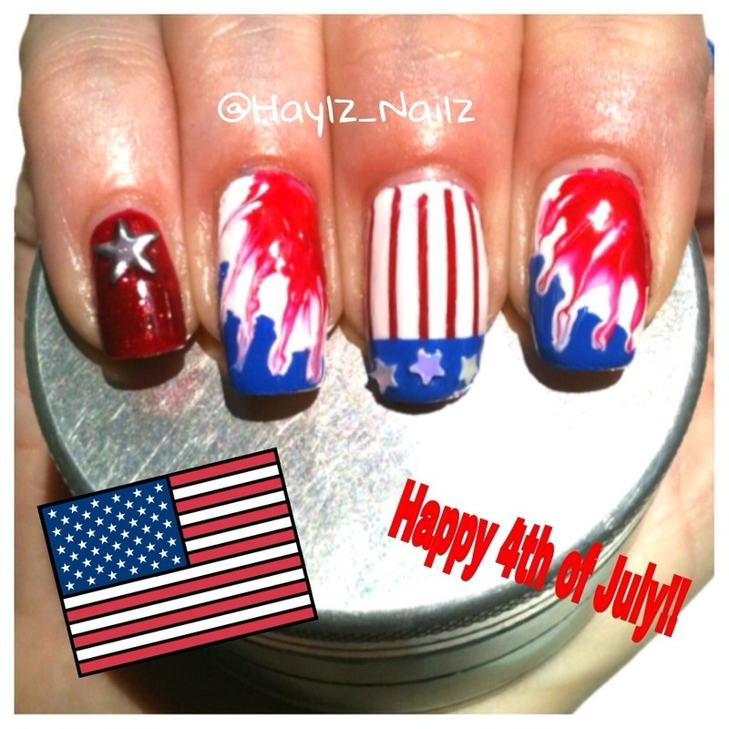 Happy 4th!!! nail art by Hayley