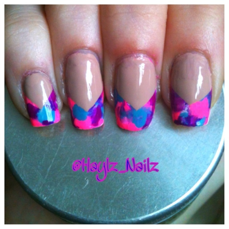 Fun French nail art by Hayley