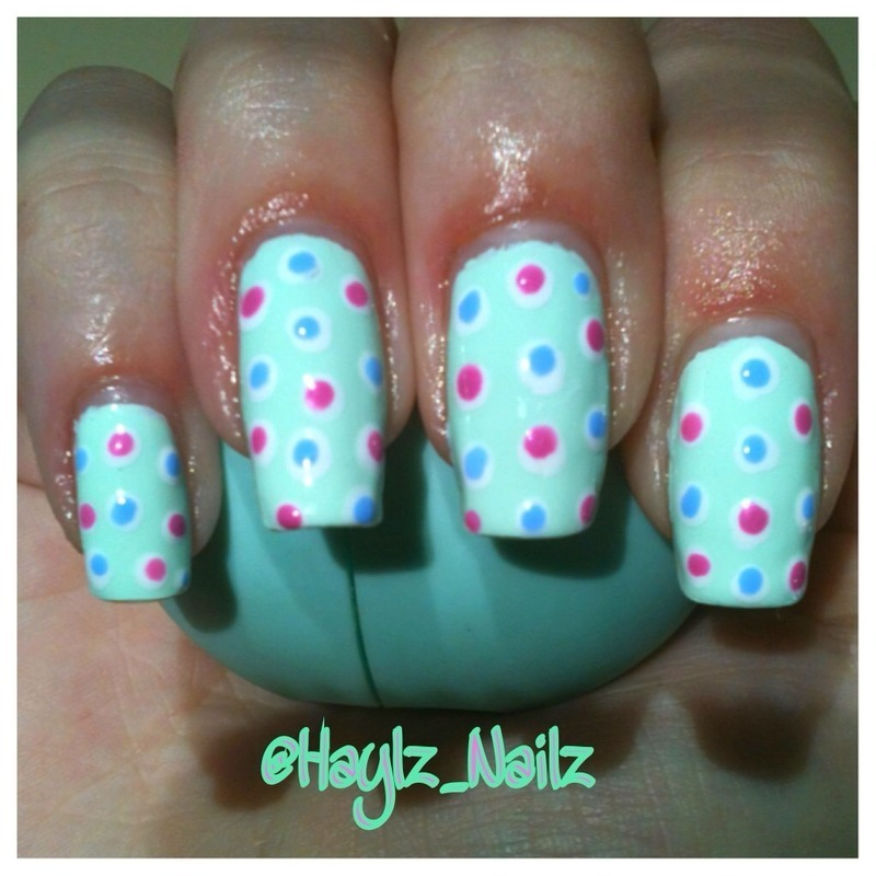 Dots on Dots nail art by Hayley