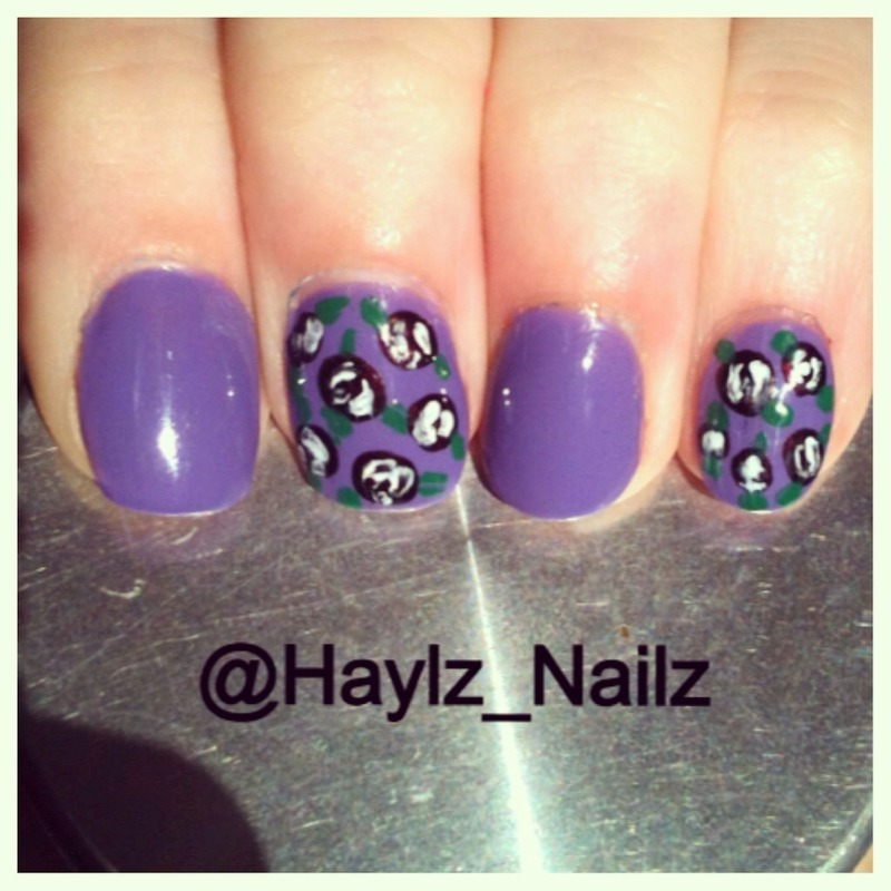 Floral nail art by Hayley