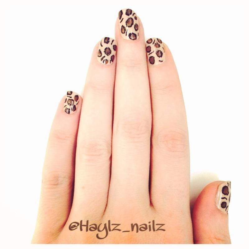Leopard nail art by Hayley