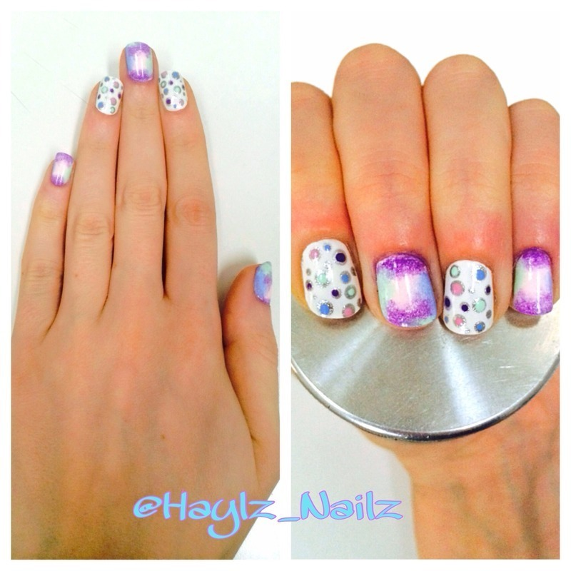 Bright and fun nail art by Hayley