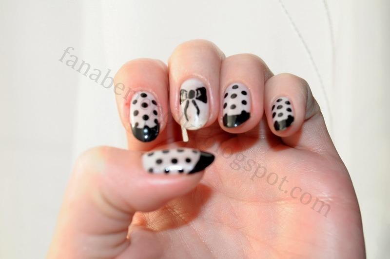 Polka dots nail art by Carolina