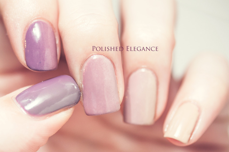 Naturel Ombre nail art by Lisa