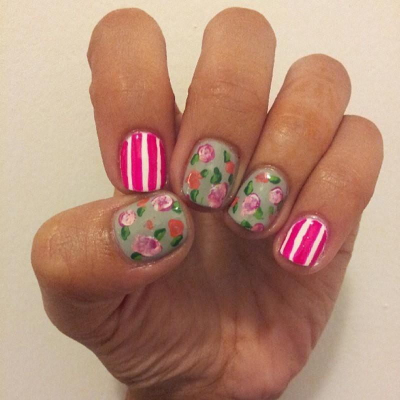 Spring-y, Springtime nail art by Pris  Killah