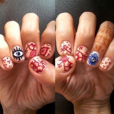 Eye Just Love Henna... nail art by Pris  Killah