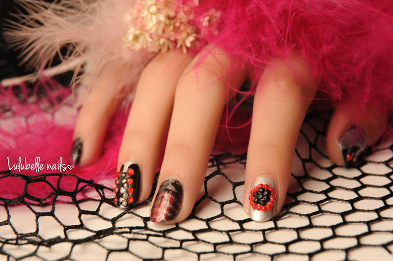 Rockstar Nails nail art by Andy