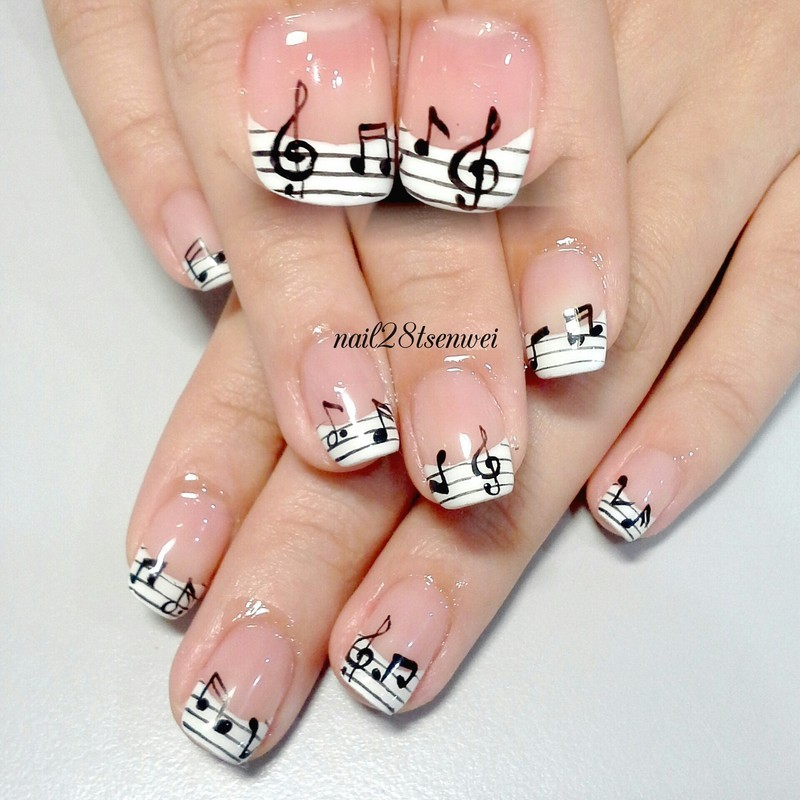 notation nail art by Weiwei