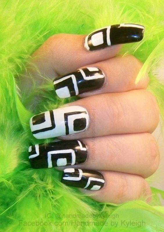 She's a Mod nail art by  Kyleigh  'Handmade By Kyleigh'